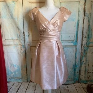 Alfred Sung dress cap sleeve pearl pink 14